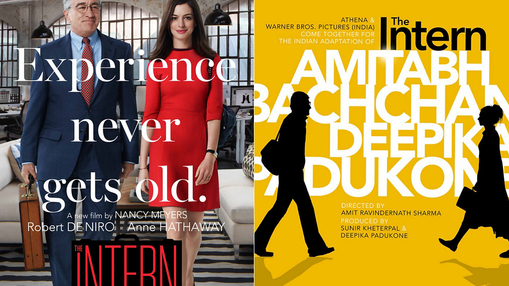 The Hollywood and Hindi versions of The Intern.