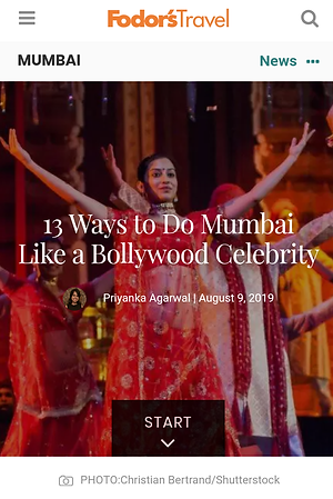 Fodor's, 9 Aug 2019 - Mumbai like Bollyw