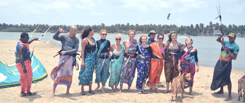 Kitesurfing in a Saree