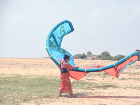 Have you ever Kiteboarded in a Saree?