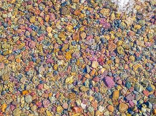 Stones in Lake McDonald, Glacier National Park, Montana
