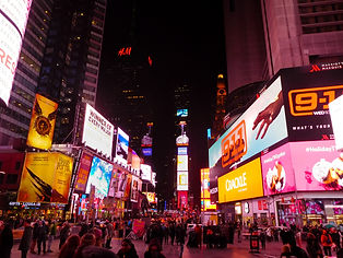 Times Square from the Red Steps in New York City, New York