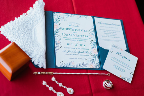 Wedding jewelry and invitations. Taken at the Chicago Marriott Naperville.