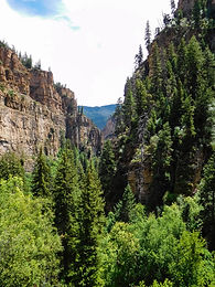 View from Hanging Lake trail near Glenwood Springs, Colorado
