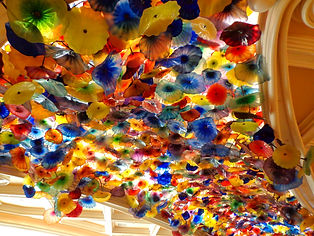 Glass flowers at the Bellagio Hotel in Las Vegas, Nevada