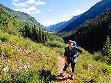 Backpacking trip through the Colorado Wilderness near Aspen, Colorado