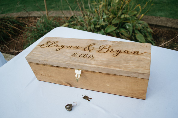 Wine box at the Birkman's Wedding. Taken at the Timber Pointe Golf Club in Poplar Grove, Illinois.