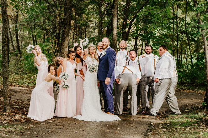 The Birkman Wedding bridal party. Taken at the Timber Pointe Golf Club in Poplar Grove, Illinois.