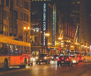 City Street in Chicago, Illinois