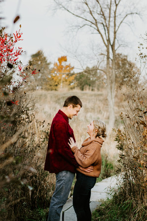 Matt and Allison's engagement session at the Volo Bog in Volo, Illinois.