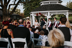 The James Wedding ceremony at the Randall Oaks Golf Club In West Dundee, Illinois.