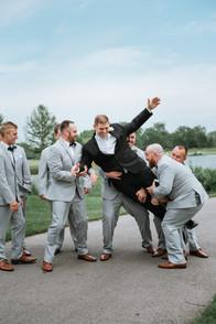 The groom with his groomsmen. Taken at Arrowhead Golf Club in Wheaton, Illinois.