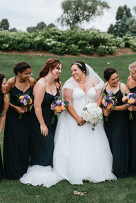 The bride with her bridesmaids. Taken at Arrowhead Golf Club in Wheaton, Illinois.