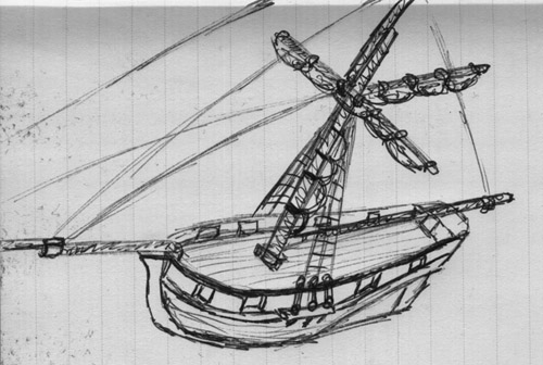 Sloop sketch
