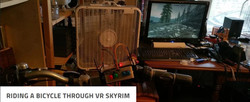 Riding a Bicycle Through Skyrim