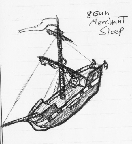 Sloop Sketch 2