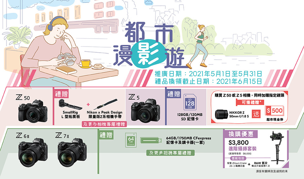 Nikon 五月份都市漫影遊優惠!