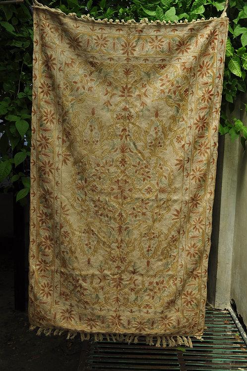 Kotsa | Silk Carpet | Kashmiri Handmade Silk Carpet | Flower Pattern Carpet KC26