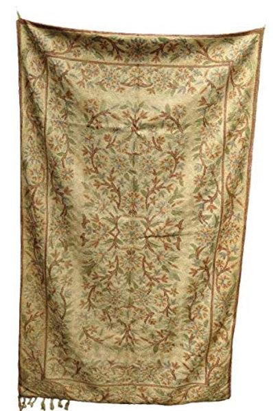 Kotsa   Silk Carpet   Kashmiri Handmade Silk Carpet   Flower Pattern Carpet KC21