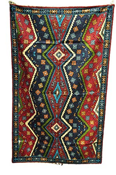 Kotsa   Silk Carpet   Kashmiri Handmade Silk Carpet   Geometric Carpet KC15