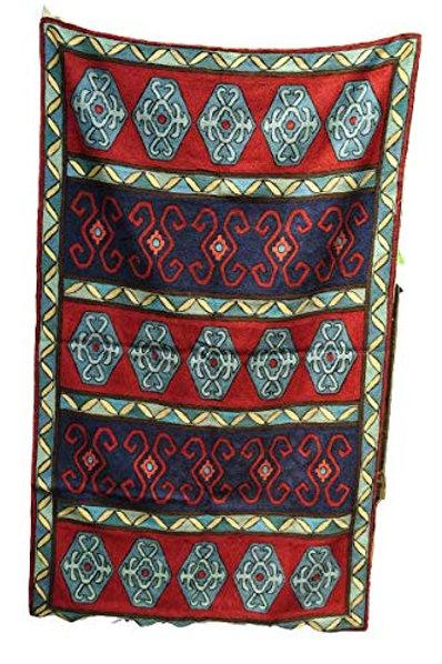Kotsa   Silk Carpet   Kashmiri Handmade Silk Carpet   Geometric Carpet KC19