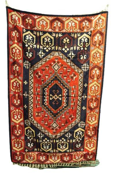 Kotsa   Silk Carpet   Kashmiri Handmade Silk Carpet   Geometric Carpet KC29