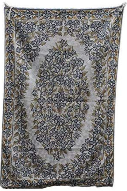 Kotsa   Silk Carpet   Kashmiri Handmade Silk Carpet   Flower Pattern Carpet KC11