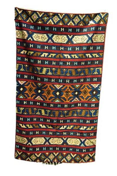Kotsa | Silk Carpet | Kashmiri Handmade Silk Carpet | Geometric Carpet KC17