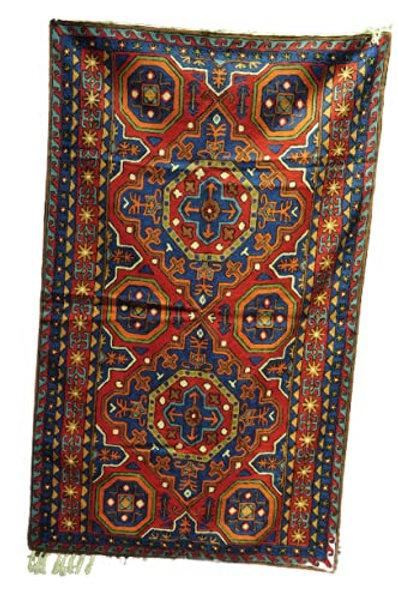 Kotsa | Silk Carpet | Kashmiri Handmade Silk Carpet | Geometric Carpet KC20