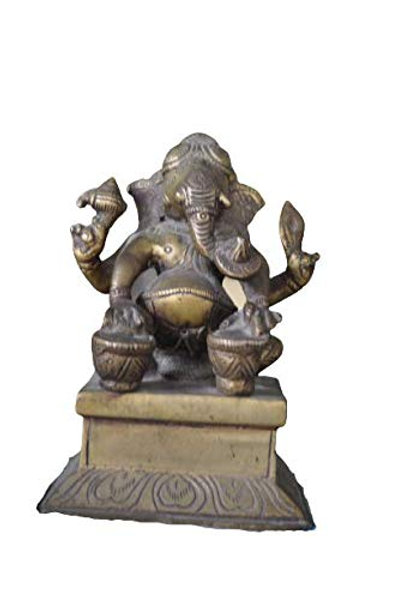 Kotsa | Ganesha Sculpture | Ganesha God Statue | Ganesha with Drum Statue | VH19