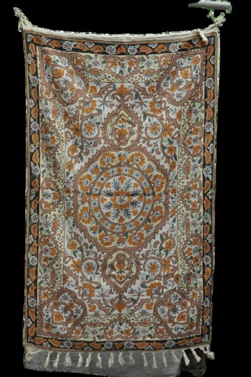 Kotsa   Silk Carpet   Kashmiri Handmade Silk Carpet   Flower Pattern Carpet KC12