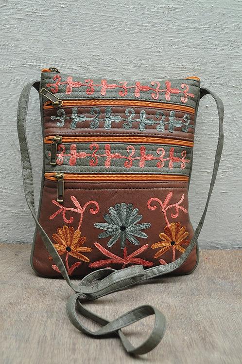 Kotsa | Women Leather Handbag | Kashmiri Women Handbag | Tote Leather Bag | VB06