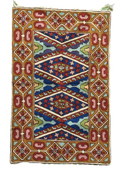 Kotsa | Silk Carpet | Kashmiri Handmade Silk Carpet | Geometric Carpet KC10