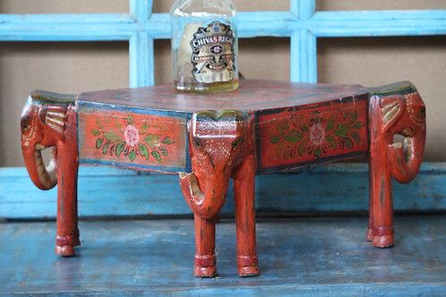 Indian Vintage Unique Home Decor Decorative Wooden ELE Face Table