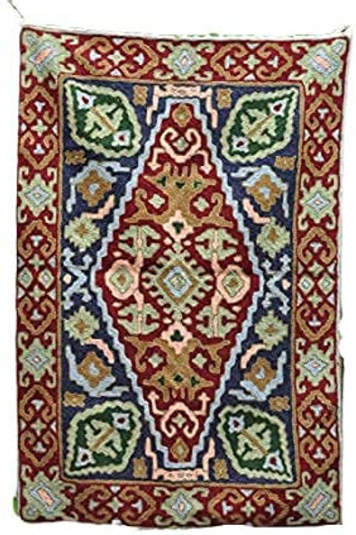 Kotsa | Silk Carpet | Kashmiri Handmade Silk Carpet | Flower Pattern Carpet KC09