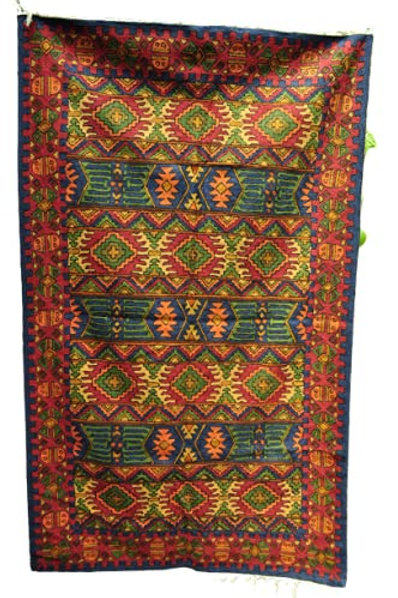 Kotsa | Silk Carpet | Kashmiri Handmade Silk Carpet | Geometric Carpet KC18
