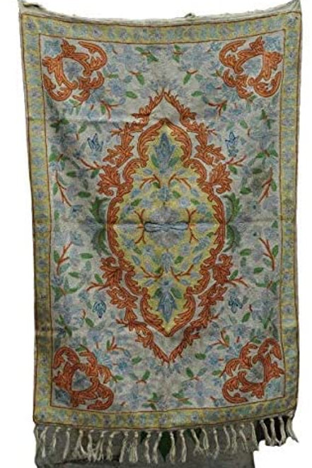 Kotsa | Silk Carpet | Kashmiri Handmade Silk Carpet | Flower Pattern Carpet KC01