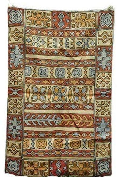 Kotsa | Silk Carpet | Kashmiri Handmade Silk Carpet | Geometric Carpet KC05