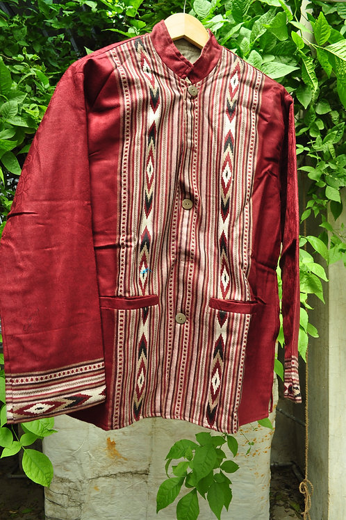 Kotsa   Women Silk Jacket   Casual Silk Jacket   Silk Designer Jacket   KVJ26