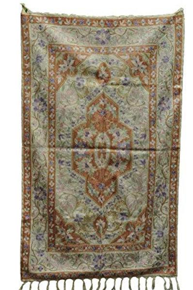 Kotsa   Silk Carpet   Kashmiri Handmade Silk Carpet   Flower Pattern Carpet KC13