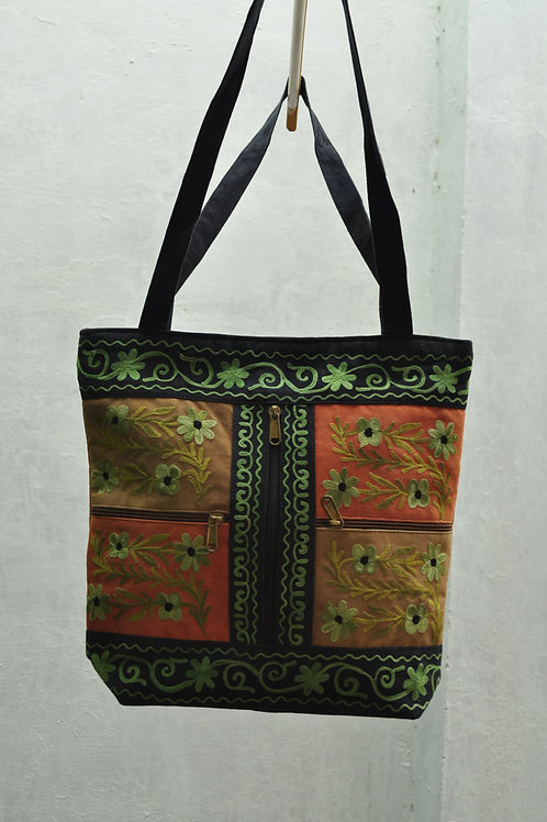 Kotsa | Women Leather Handbag | Kashmiri Women Handbag | Tote Leather Bag | VB08
