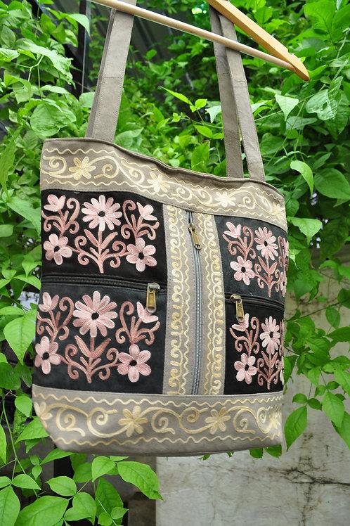 Kotsa | Women Leather Handbag | Kashmiri Women Handbag | Tote Leather Bag | VB04