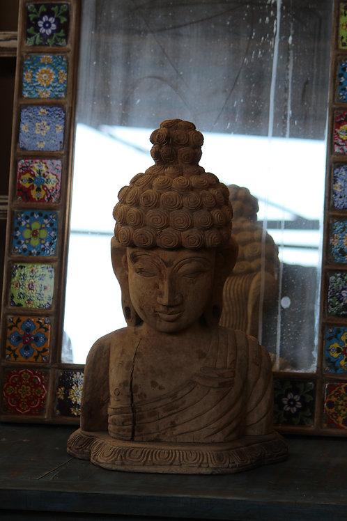 Indian Vintage Unique Home Decor Decorative Wooden Buddha Statue