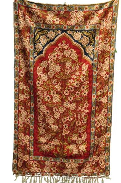 Kotsa   Silk Carpet   Kashmiri Handmade Silk Carpet   Flower Pattern Carpet KC28