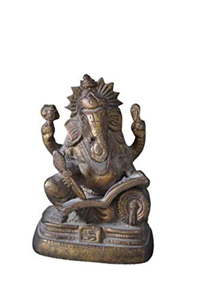 Kotsa   Ganesha Reading Sculpture   Ganesha Reading God Statue   VH23