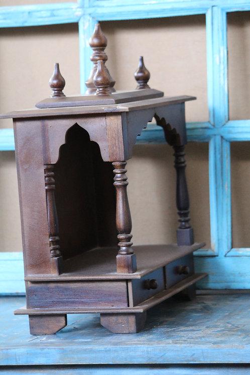 Indian Vintage Unique Home Decor Decorative Wooden Hindu Temple