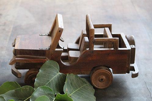 Indian Vintage Unique Home Decor Decorative Wooden Jeep
