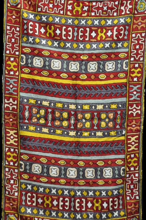 Kotsa   Silk Carpet   Kashmiri Handmade Silk Carpet   Geometric Carpet KC37