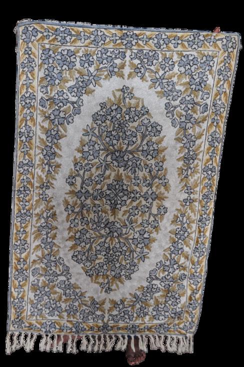 Kotsa | Silk Carpet | Kashmiri Handmade Silk Carpet | Flower Pattern Carpet KC32