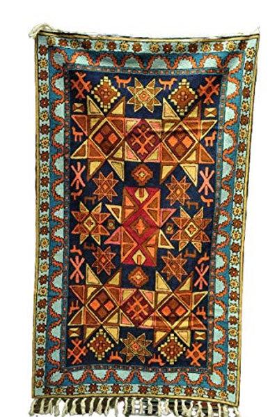 Kotsa | Silk Carpet | Kashmiri Handmade Silk Carpet | Geometric Carpet KC14